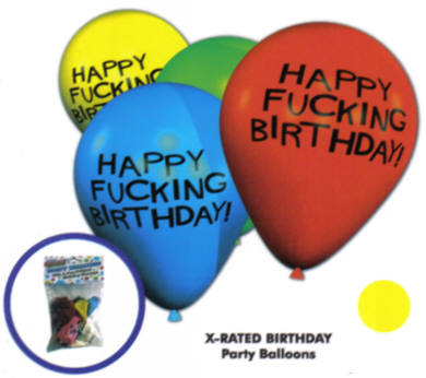 Happy Fucking Birthday 11in Balloons - 8 Per Pack