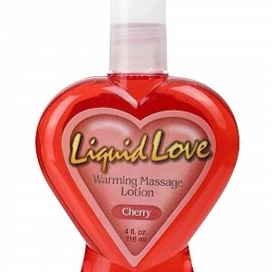 Liquid Love Warming Massage Lotion Cherry 4oz