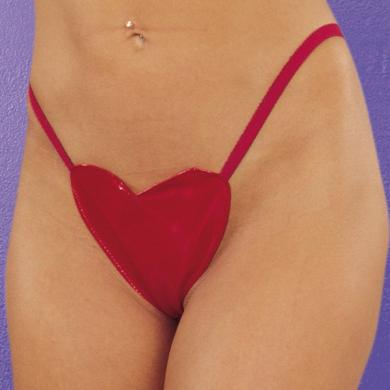 Allure Xoxo Vinyl Heart G-String Panties