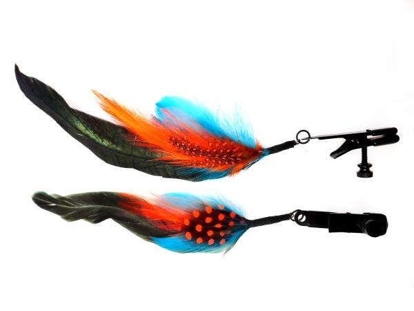 Alligator Clamp Black Feather Color
