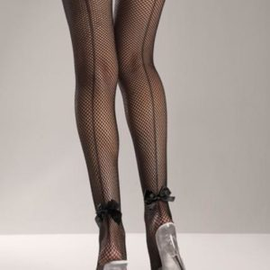 Lycra Stay Up Fishnet Thigh High Stockings Black O/S