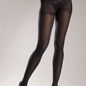 Opaque Nylon Pantyhose Black O/S