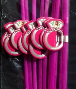 Bride Straw Ring Bling 10 Count Package