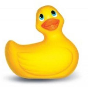 I Rub My Duckie Yellow Floral Oval Package