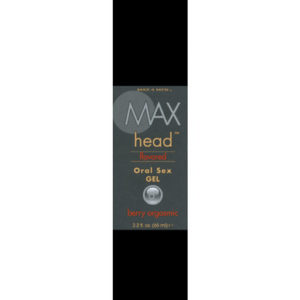 Max Head Flavored Oral Sex Gel   - Berry Orgasmic 2.2 oz