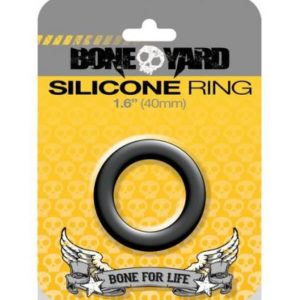 Boneyard Silicone Ring 1.6 inches Black