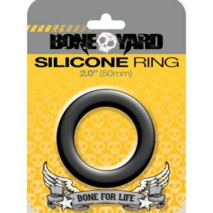 Boneyard Silicone Ring 2 inches Black