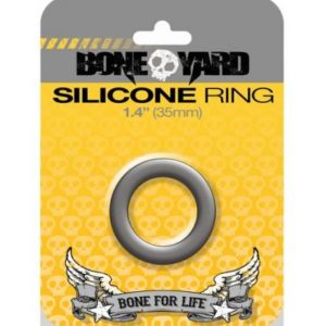 Boneyard Silicone Ring 1.4 inches Gray