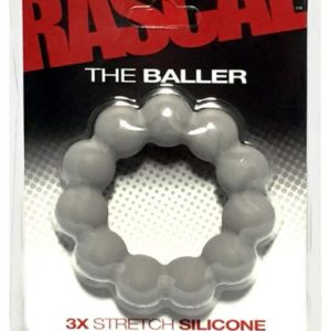 The Baller 3X Stretch Silicone Cock Ring Smoke