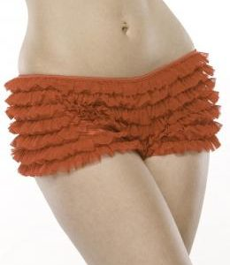 Ruffle Shorts W/Back Bow Red O/S
