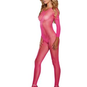 Body Stocking Neon Pink O/S