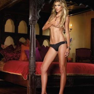 Cheeky Panty Lace Back Black Gold Large
