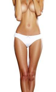 Cheeky Panty Pearl White Silver Small