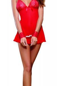 Babydoll with Panty Red O/S