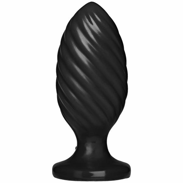 The Swirl Black Butt Plug