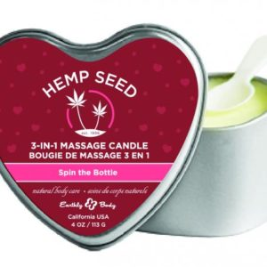 Candle 3-N-1 Heart Spin The Bottle 4oz