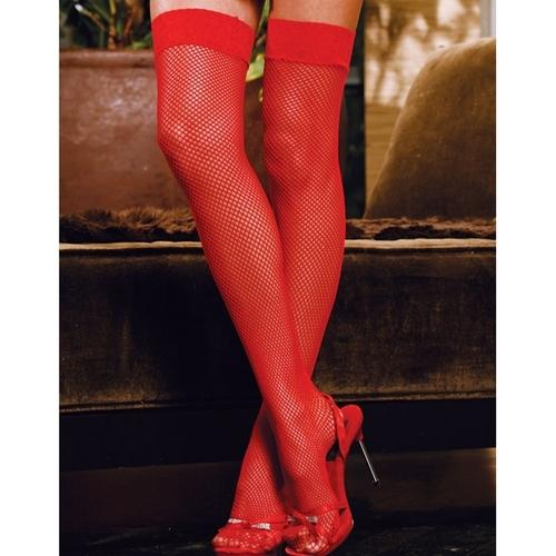 Fishnet Stocking Red O/s