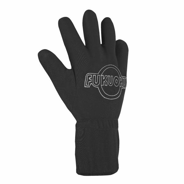 Five Finger Massage Glove Right Hand - Black- Medium