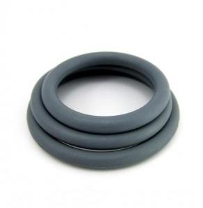 Nitrile Cock Ring 3Pc - Military Green