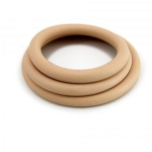 H2H Cock Ring Nitrile 3 Piece Set Nude