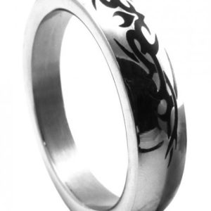 "Metal C Ring 1.75"" Stainless Steel Tribal Design"