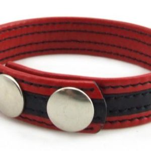 H2H Ring Leather with 2 Snap Black/Red