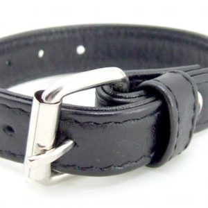 H2H Cock Ring Leather Buckle Black 5 to 9 inches
