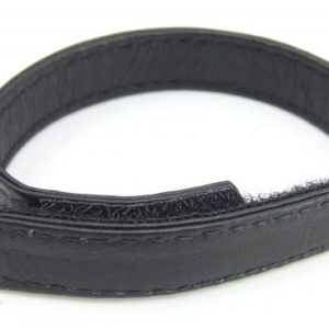 H2H Cock Ring Leather Velcro Black