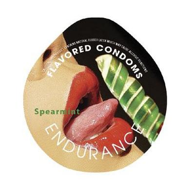 Endurance Flavored 3Pk Condoms-Spearmint