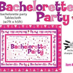 Bachelorette Party Tablecloth Trivia