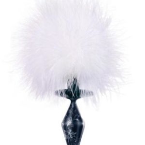 Fashionistas Black Glass Bunny Tail - Small