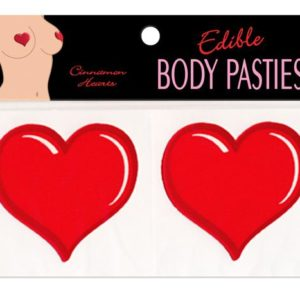 Edible Body Pasties Cinnamon Hearts
