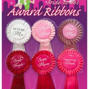Bride To Be Award Ribbons 6 Package