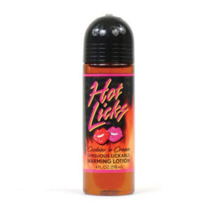 Hot Licks Lickable Warming Lotion Cookies And Cream 4 oz