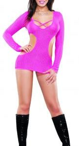 Cut Out Dress and G-String Pink S/M