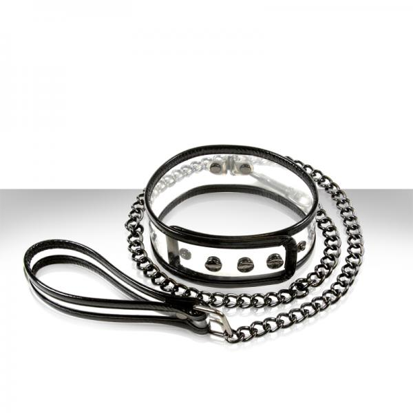 Bare Bondage Collar & 18 Inches Leash