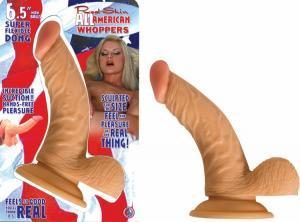 All American Whopper With Balls 6.5 Inches - Beige