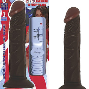 Afro American Whopper Vibrator - 8 inch