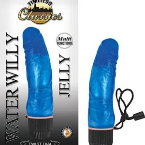 Jelly Water Willy Blue Vibrator