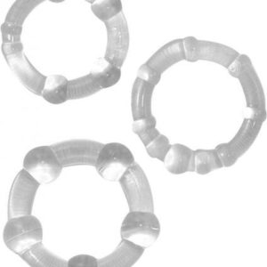 Beaded C Rings Clear 3 Pack