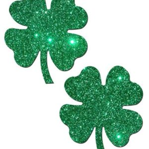 Four Leaf Clover Shamrock Green Pasties O/S