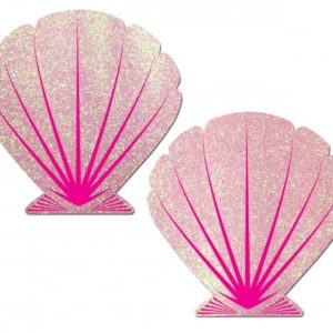 Mermaid Glitter Pink Seashell Pasties O/S