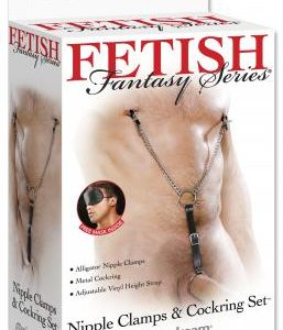 Fetish Fantasy Nipple Clamps and C Ring Set
