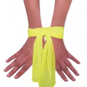 Neon Nylon Luv Ties Yellow 2 3 feet Ties