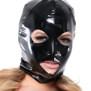 Fetish Fantasy Wet Look 3 Hole Hood For Her