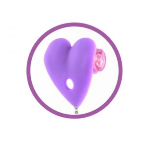 Fetish Fantasy Vibrating Heart Pasties Purple