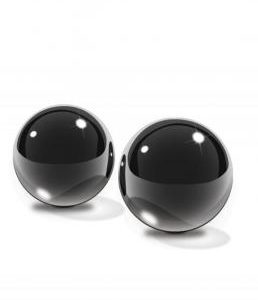Fetish Fantasy Medium Black Glass Ben Wa Balls