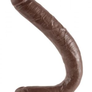 16 Inch Tapered Double Dildo - Brown