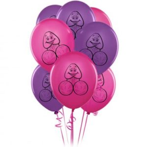 Bachelorette Party Favors Pecker Balloons 8 Pieces