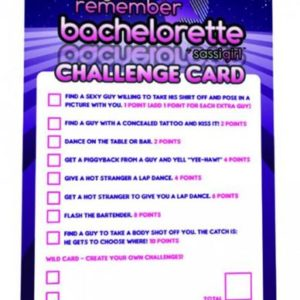Bachelorette Challenge Cards